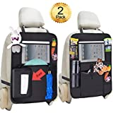 Backseat Car Organizer Storage Bag Holder for iPad Tablet Bottle Drink Tissue Box Toys Great Travel Accessory for Kids