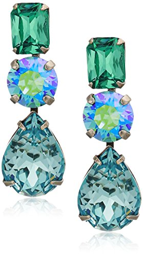 Sorrelli Polished Pear Drop Earrings, Blue-Green, 1.5