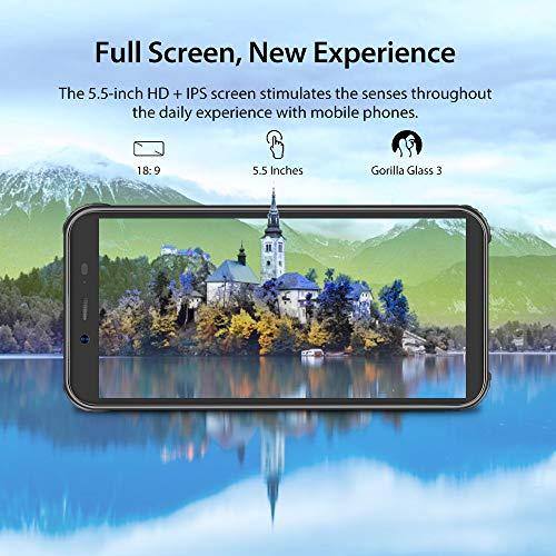 Téléphone Portable Incassable, Blackview BV5500Plus Smartphone Débloqué Antichoc Étanche Pas Cher 4G Android 10, 32Go… 4
