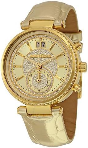Michael Kors Reloj Cronógrafo para Mujer de Cuarzo con Correa en Cuero MK2444