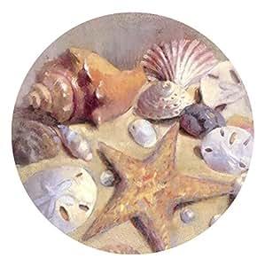 Thirstystone Stoneware Coaster Set, Sea Shells