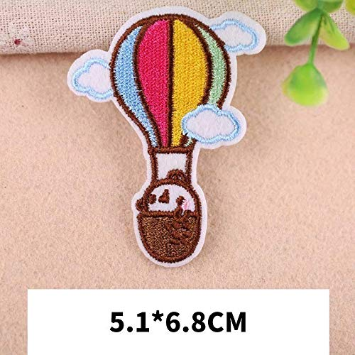 Cake Ornament - Kuke Patches Cartoon Leaf Badges Hydrogen Balloon Embroidered Patch Clothes Stickers Iron On - Plate Baby Cake Shampoo Beach Roll Tomato Body Pattern Vases Feather Turntable ()