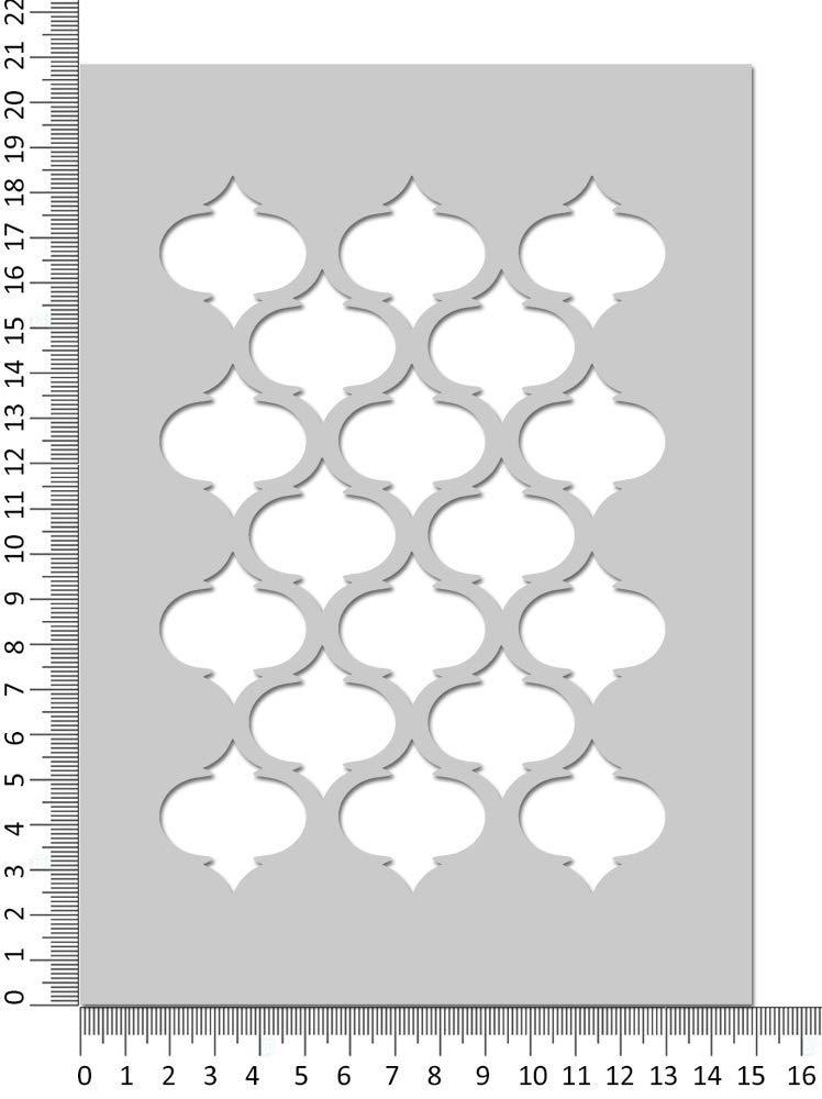 Marokkanische Vierpass Schablone Muster Basteln Wohndeko Gesichtsbemalung Schablone Wiederverwendbar Mylar Stanze