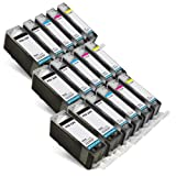 Printronic Compatible Canon CLI-221 CLI 221 CLI221 PGI-220 PGI 220 PGI 220 4 Big Black 3 Small Black 3 Cyan 3 Magenta 3 Yellow for use with PIXMA iP3600 PIXMA iP4600 PIXMA iP4700 PIXMA MP560 PIXMA MP620 PIXMA MP620B PIXMA MP640 PIXMA MP640R PIXMA MP980 PIXMA MP990 PIXMA MX860 PIXMA MX870 Ink Cartridges for Inkjet Printers (16 Pack)