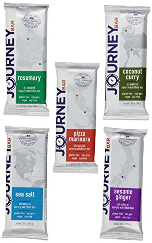 Journey Bar Nutrition Bars Variety Pack, 1.6 Pound Savory Bar