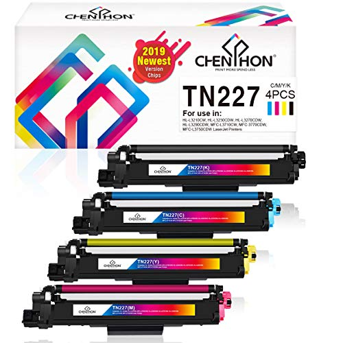 ChenPhon Compatible Toner Cartridge Replacement for Brother TN227 TN-227 (2019 Newest Version Chips) TN223 TN-223 for HL-L3210CW HP-L3230CDW HL-L3270CDW HL-L3290CDW MFC-3710CW MFC-3770CDW Printer 4PK