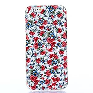 LCJ Beautiful Blooming Blossoms Pattern Silicone Soft Cover and Mini Diaplay Stand for iPhone 6