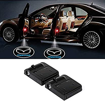 Fangfei 2x Wireless Laser Projector Car Door Step Courtesy Welcome Lights for BMW Puddle Ghost Shadow LED Lights Skull Accept Custom Logo