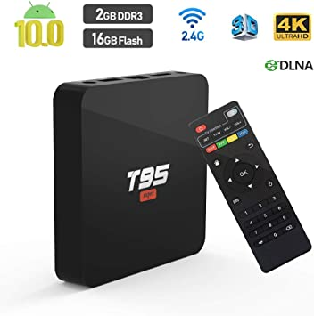 TUREWELL Android 10.0 TV Box T95 Super TV Box Allwinner H3 Quad-Core 2 GB RAM 16 GB ROM Media Player, 3D 4K H.265 Smart Android TV Box: Amazon.es: Electrónica