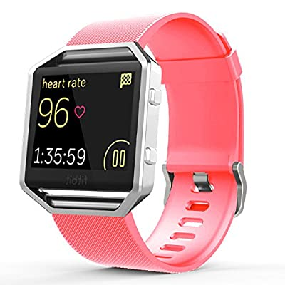 Fitbit Blaze Bands, Marge Plus Soft Silicone Accessories Classic Band Replacement Sport Strap Bracelet for Fitbit Blaze Smart Fitness Watch Small, Large