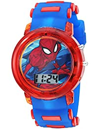 Boys' Quartz Watch with Plastic Strap, Blue, 20 (Model: SPD4464)