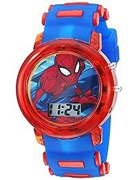 Marvel - Reloj de cuarzo para niño, de plástico, color: azul (modelo: SPD4464)