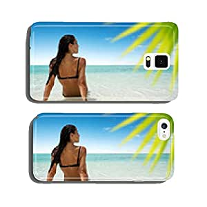 Woman sitting at a dreamy beach cell phone cover case iPhone6 Plus
