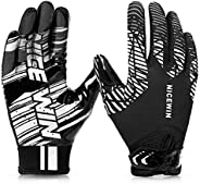 NICEWIN Football Gloves Adult Football Receiver Gloves for Men and Women