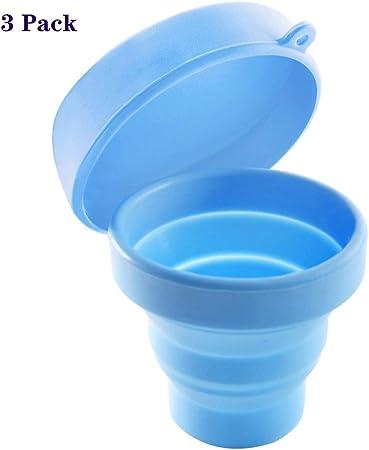 ZYJFP Esterilizador Copa Menstrual, Silicona Compresas Reutilizable Copa Menstrual Esterilizador Vapor Almacenamiento Caja para Mujeres Período Fisiológico Salud 3 Piezas,Blue: Amazon.es: Hogar