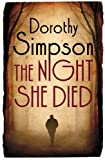 Front cover for the book The Night She Died by Dorothy Simpson