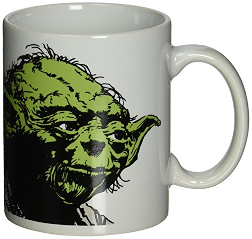 Zak Designs Star Wars Yoda Ceramic Coffee Cup, 11 oz