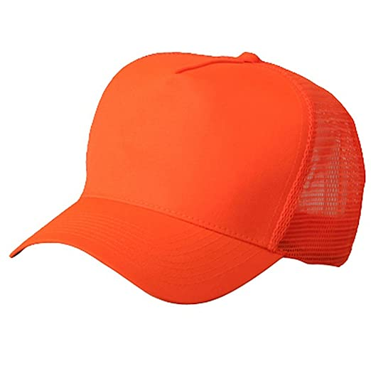 Otto Caps 5 Panel High Visilbility Mesh Cap-Neon Orange at Amazon Men s  Clothing store  Baseball Caps 12f4fa7e175