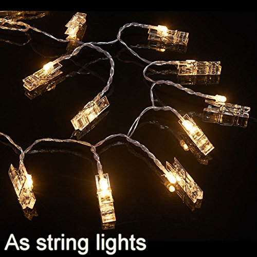 String Lights Qatar : Accmor 21ft LED Photo Clip String Lights USB Lights with 30 Photo Clips for Indoor/Outdoor ...