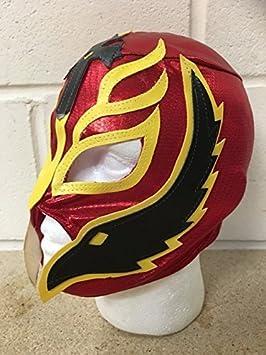 Rey Mysterio -rojo- Cremallera Máscara - NUEVO - WWE Wrestling Disfraz Disfraz