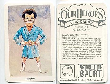 Amazon Com 1979 Venorlandus World Of Sport John Conteh Boxing Card