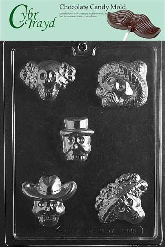UPC 799861562771, Cybrtrayd H165 Day of The Dead Chocolate Candy Mold with Exclusive Cybrtrayd Copyrighted Chocolate Molding Instructions