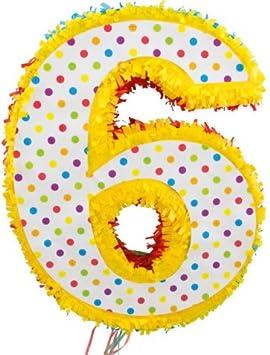 1 piñata * número 6 * para el sexto Cumpleaños infantiles ...