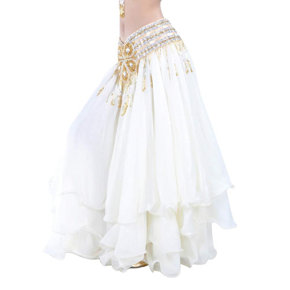 Gonna Danza del Ventre Maxi Gonne in Chiffon Ruffles Gonna Swing Gonna Danza Flamenco Costume Vestito Gonna Tulle Donna