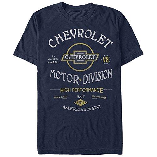 General Motors Men's Chevrolet Motor Division Navy Blue T-Shirt (Motors General Tahoe)