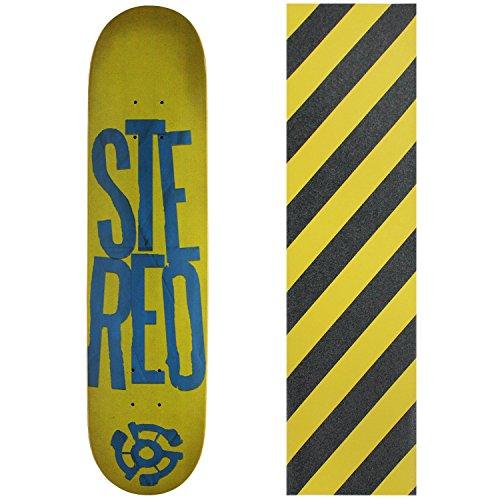 プロフェッショナルひどく悲劇的なステレオスケートボードデッキスタックロゴグリーン/ブルー7.5 with griptape