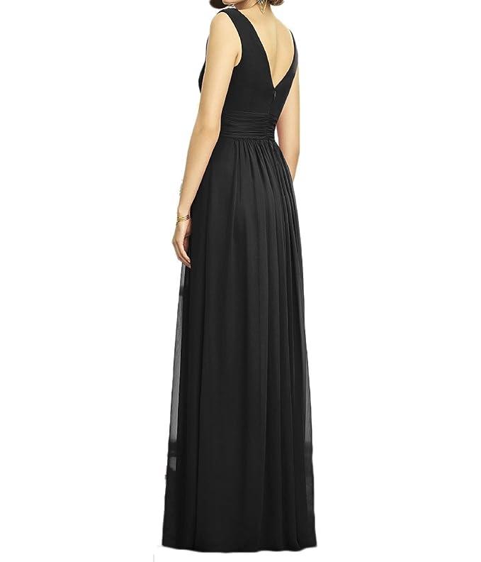 KA Beauty Womens V-neck Long Chiffon Prom Dresses: Amazon.co.uk: Clothing