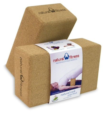 Natural Fitness Cork Yoga Block (3-1/2-Inch x 5.1/2-Inch x 9-Inch)