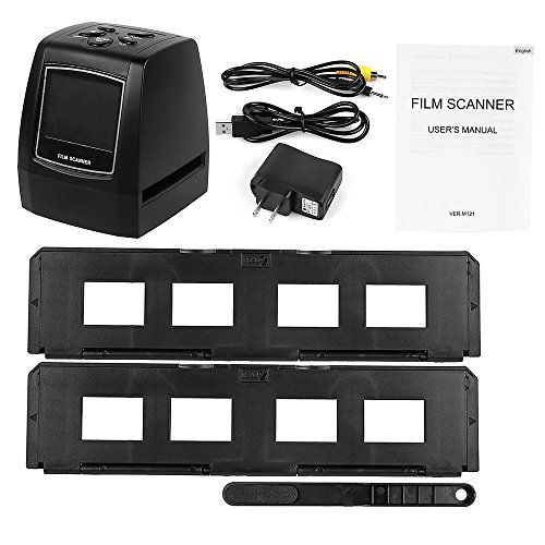 TV Out Cable Included /& Worldwide Voltage 110V//240V AC Adapter No Computer or Software Required zonoz FS-ONE 22MP Ultra High-Resolution 35mm Negative Film /& Slide Converter Scanner w// 2.4 TFT LCD