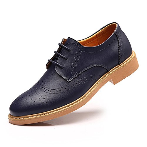 ZhaoDao158 Men Fashion Lace-Up Bullock Leather Oxfords Shoes European Male Cow Muscle Retro Shoes