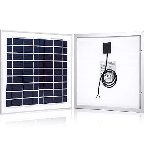 ACOPOWER HY015-12P 15 Watts Poly Solar Panel for 12 Volts Battery Charging