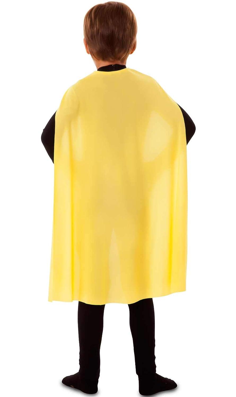 EUROCARNAVALES Capa Superh/éroe Infantil Amarilla de 70 cm