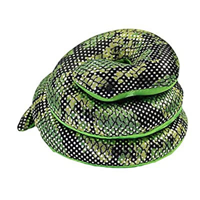 Fun Stuff 16 Inch Long Sand Filled Green Glitter Plush Snake Toy/Paperweight (1 Pack): Toys & Games