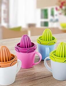 JIAO- 3 in 1 Lemon Orange Squeezer Cup Multifunction Fruit and Vegetable Juicer Kitchen Tools Mug