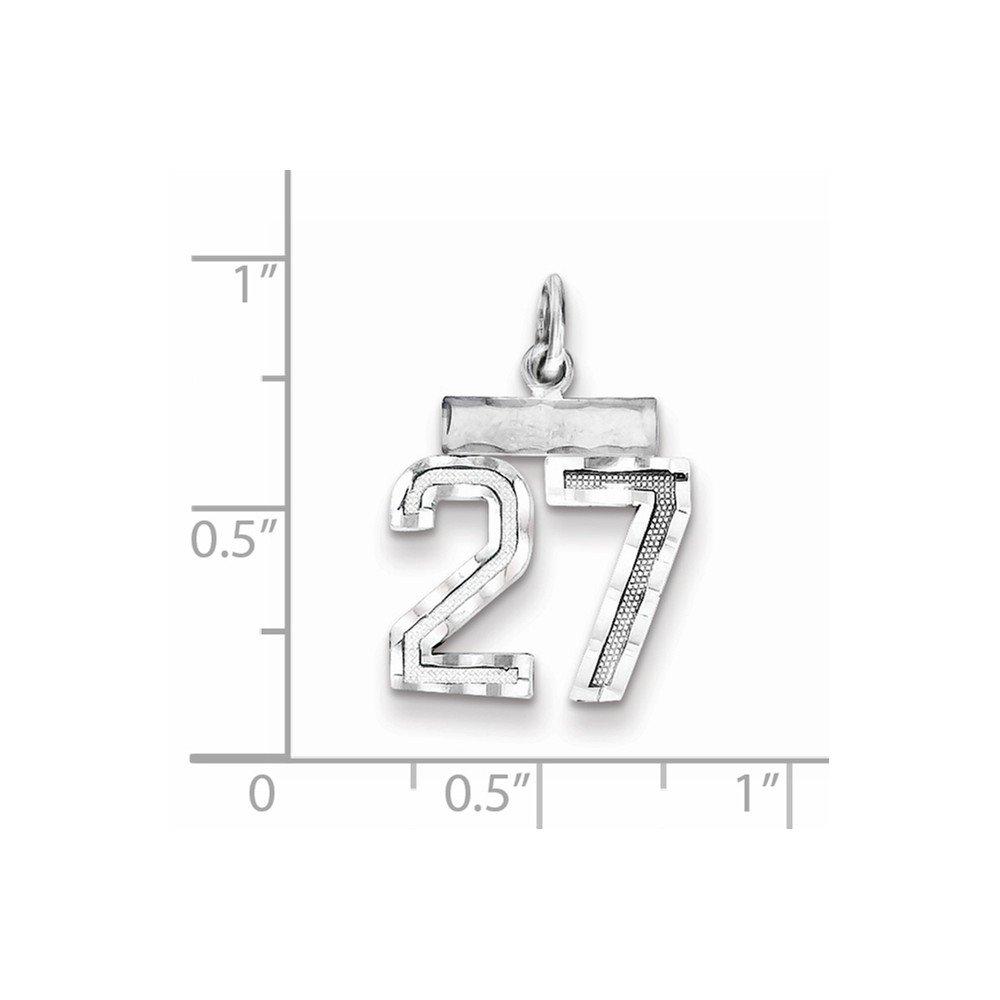 Bonyak Jewelry Sterling Silver Rhodium-Plated Small #27 Charm