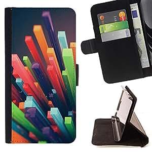 - polygon straw 3d abstract art plastic - - Prima caja de la PU billetera de cuero con ranuras para tarjetas, efectivo desmontable correa para l Funny HouseFOR Samsung Galaxy S5 Mini, SM-G800