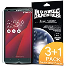 ASUS ZenFone 2 Screen Protector - Invisible Defender [Case Friendly][MAX HD CLARITY] Perfect Touch Precision High Definition (HD) Clarity Film (4-Pack) with Lifetime Warranty for ASUS ZenFone 2