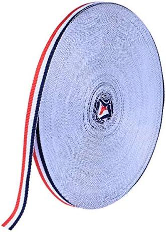 Artisanat de Bricolage Zeagro Corde de Ficelle en Ruban de Coton pour la Cuisson au Four bouchers Rouge-Bleu et Blanc Emballage de Cadeaux de No/ël de 100 m