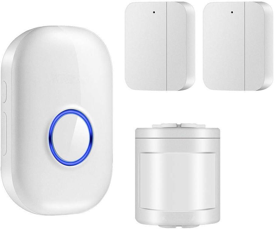 JINGTIEDA Home Alarm System Wireless Door Sensor Alarm Operating at 600FT Range With 1XReceiver,1XInfrared Sensors,2XDoor Sensor