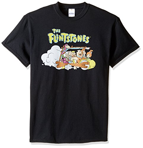 Hanna-Barbera Men's The Flintstones T-Shirt, Black, 3XL (Black Yogi Bear)