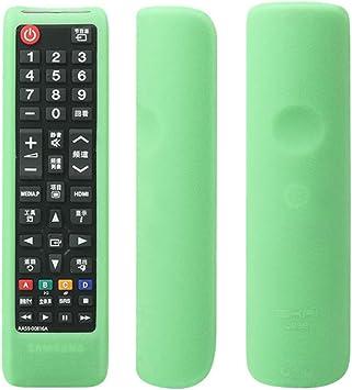 BenCreative Funda Protectora de Silicona para Samsung AA59-00816A / 00813A / 00611A / 752A TV Control Remoto Negro Fluorescent Green: Amazon.es: Bricolaje y herramientas