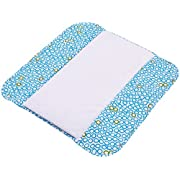 The Plush Pad Portable Changing Pad with Memory Foam, Bubbles in Water Pattern