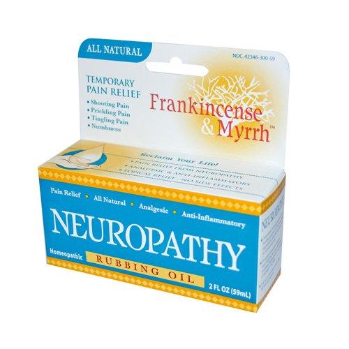 Frankincense and Myrrh Neuropathy Rubbing Oil – 2 fl oz , Frankincense and Myrrh , Pain Relief, Health Supplements
