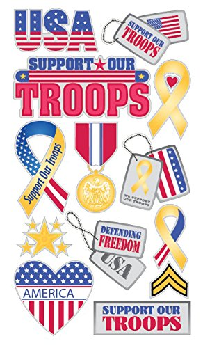 Sticko 473565 Stickers, Support Our Troops