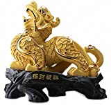 Large Size Wealth-Attracting Feng Shui Golden Pi Yao/Pi Xiu Statue,Gift for Business or Store Opening,Feng Shui Decor