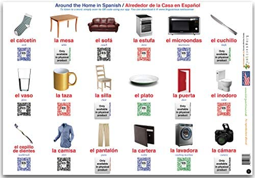 Linguacious Teachers Favorite Spanish Animals and Objects Poster - Set of 3 Posters, 108 Words with Audio!